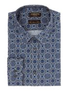 Men's Corsivo Sabello Italian Fabric Printed Shirt