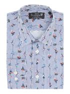 Men's New & Lingwood Filton floral on stripe