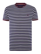 Men's Fred Perry Breton stripe ringer tshirt