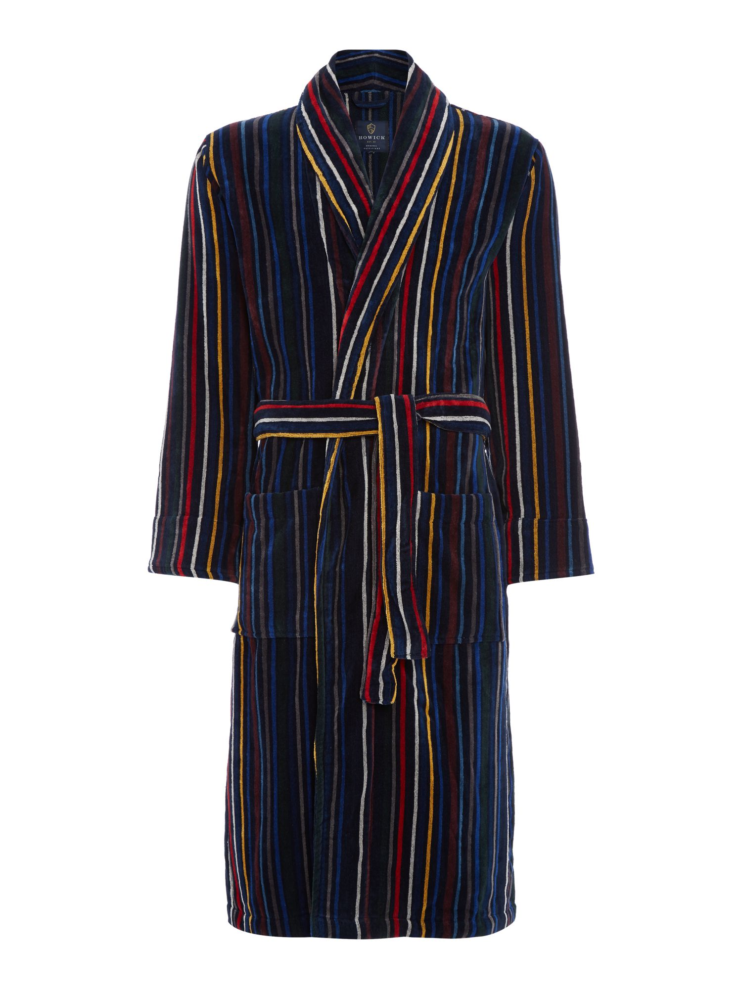 Howick Multistripe Towelling Dressing Gown - House of Fraser