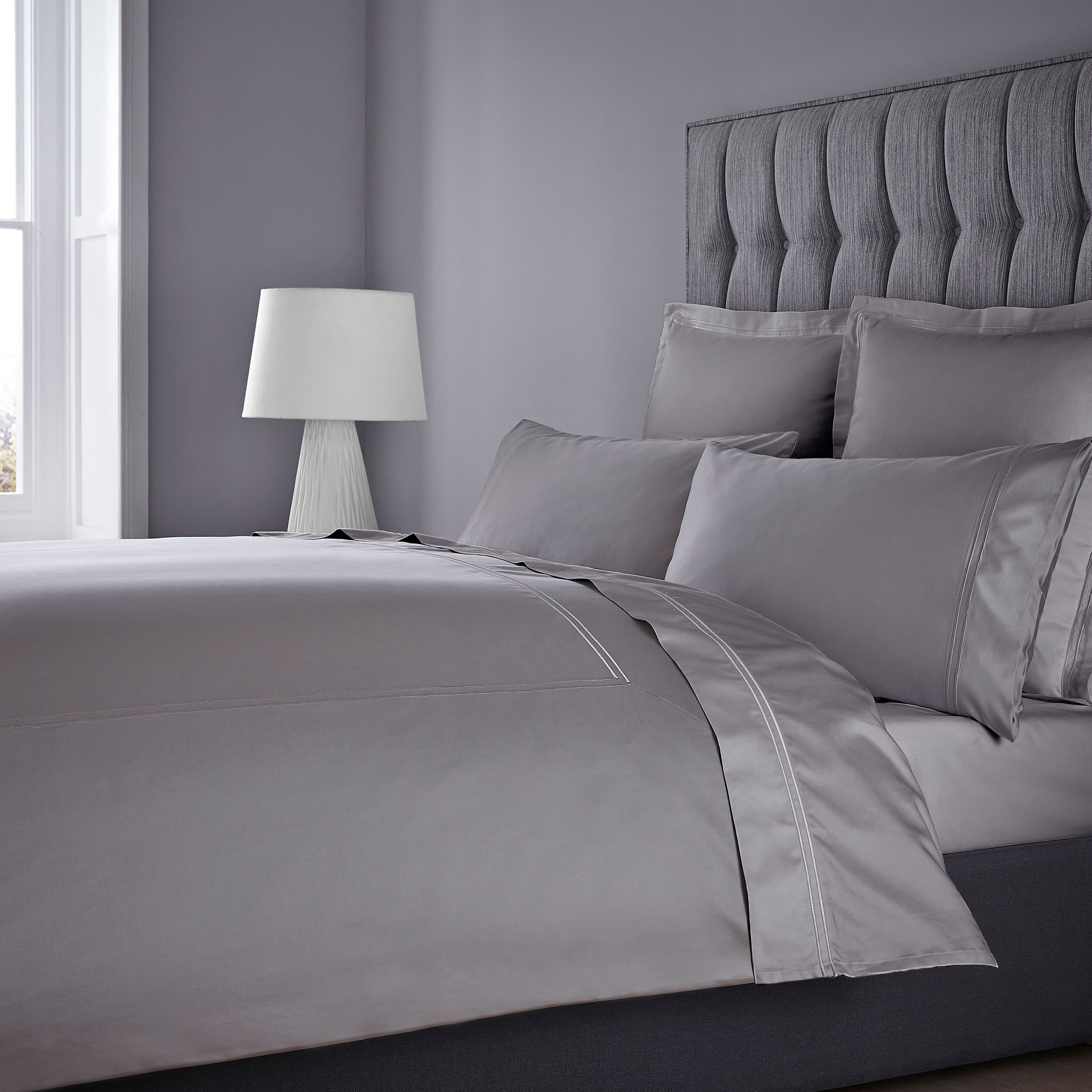 luxury hotel collection tc supima cotton true grip fitted sheet house of fraser