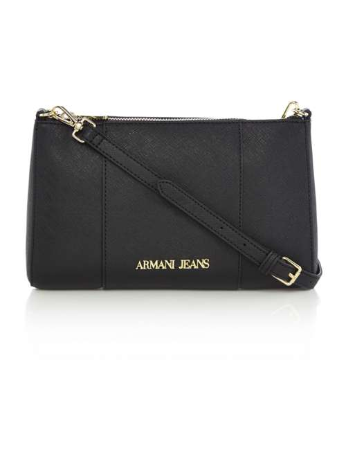 638d651c045e Armani Jeans Black Small Crossbody Bag - House of Fraser