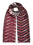 Therapy Poly Satin Zig Zag Scarf