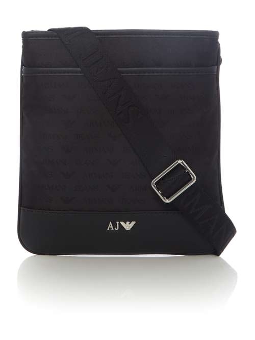 Armani Jeans All Over Logo Jaquard Cross Body - House of Fraser b80efb018c5