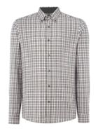 Men's Michael Kors Slim fit large checked long-sleeve