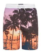 Men's Criminal Board Short With Beach Photo Print