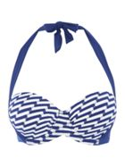Dickins & Jones Wave stripe multiway bikini top