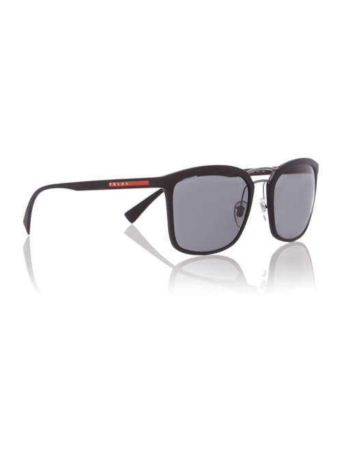 c57e83edf84 Prada Linea Rossa Black Rectangle Ps 03ss Sunglasses. 255683897. £190.00.  Previous. selectedColor. selectedColor