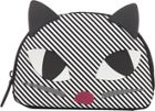 Lulu Guinness Kooky cat stripe crescent pouch