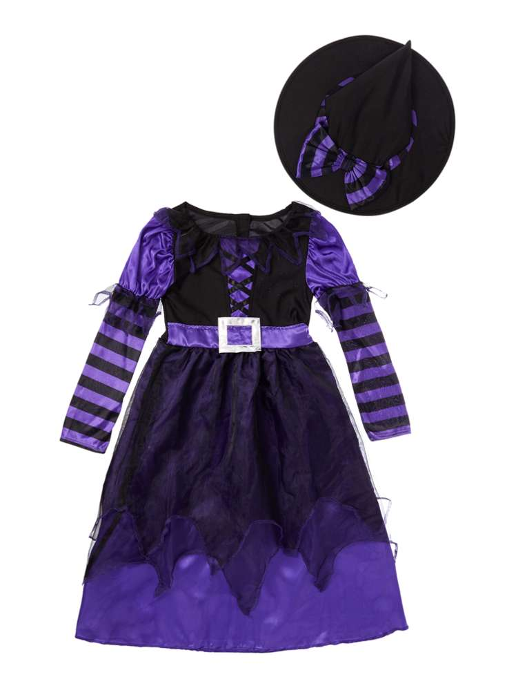 Travis Designs Girls Be Witched Witch Halloween Fancy Dress - House ...