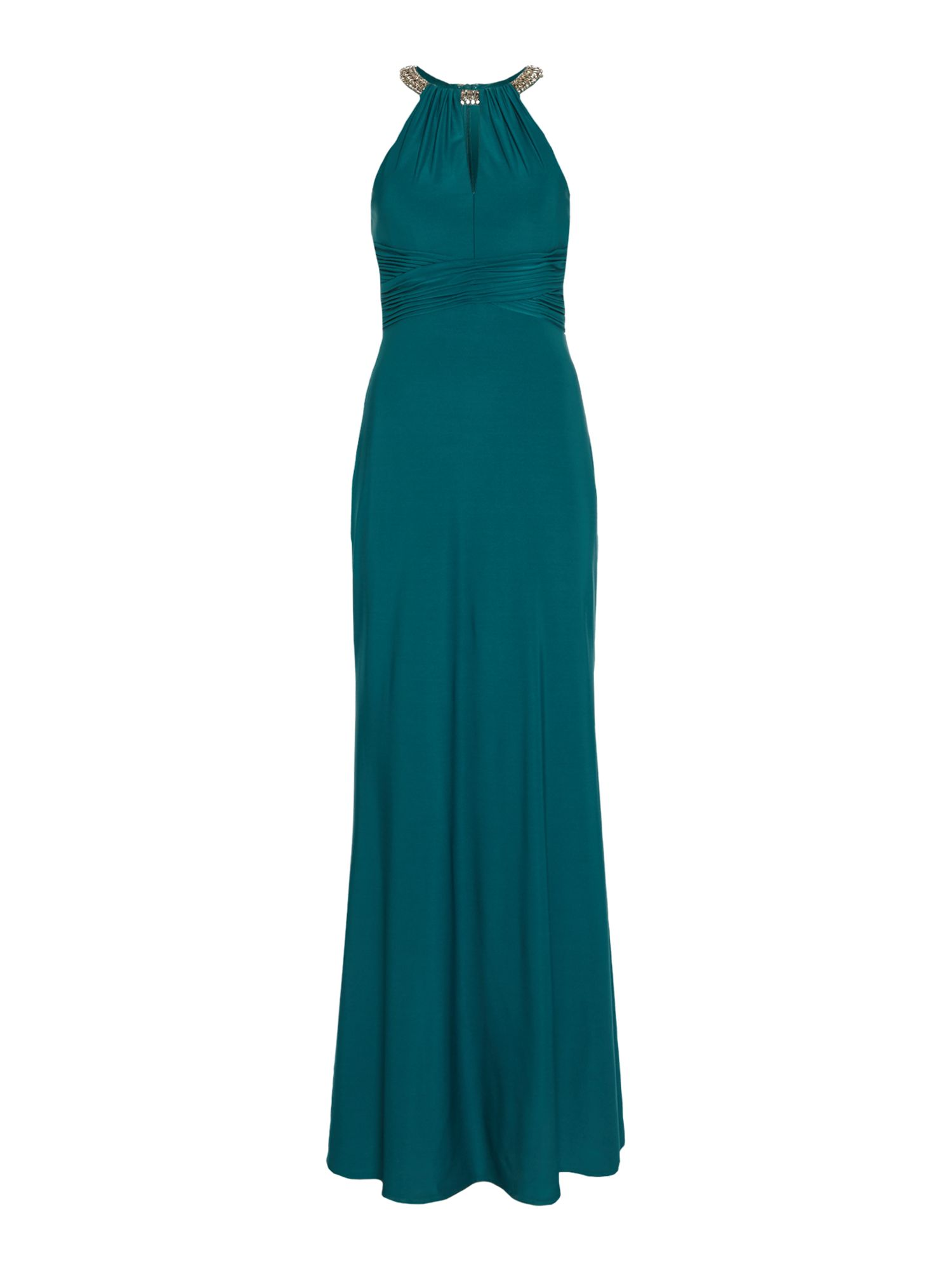 House of fraser green vase - Js Collections Beaded Neck Choker Gown