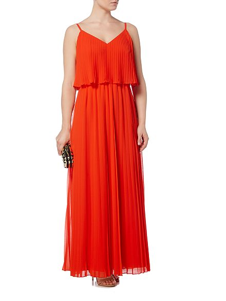 Biba Pleated Maxi Dress at House of Fraser