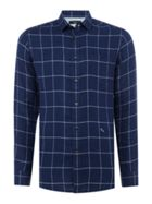 Men's Diesel Window Pane Check Long Sleeve Shirt