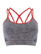 Label Lab Tipped strappy yoga crop top