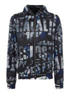 Men's Guess All-over printed zip-up hoodied jacket