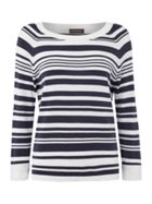 Repeat Cashmere Stripe crew neck jumper