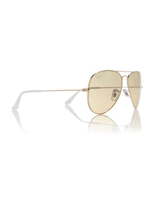 7eb6d96a2b Ray-Ban Gold Rb3025 Aviator Pilot Sunglasses. 263387714. £0.00. Previous.  selectedColor. selectedColor