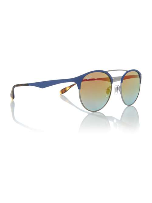 3f1208b4b7 Ray-Ban Blue Rb3545 Round Sunglasses. 263388613. £154.00. Previous.  selectedColor. selectedColor