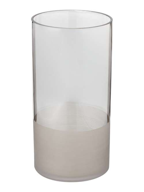 Linea Smoked Grey Column Vase 30cm House Of Fraser