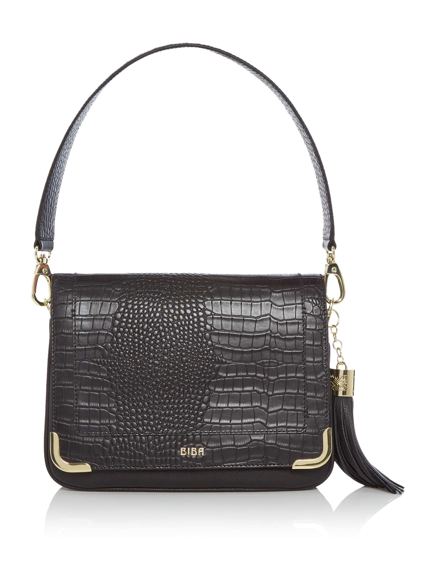 Biba Grace Croc Shoulder Bag