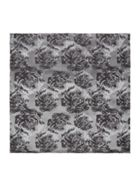 Kenneth Cole Katori Floral Design Silk Pocket Square