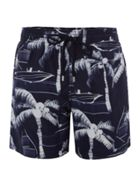 Moorea Palm Tree Print Swim Shorts