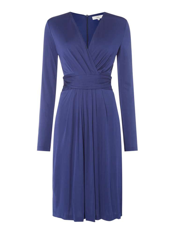 ISSA Darcy Pleat Detail Dress - House of Fraser
