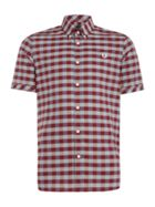 Men's Fred Perry Bold gingham short sleeve shirt