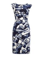 Lauren Ralph Lauren Gathered detail printed dress