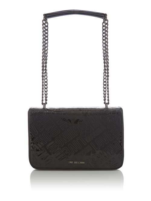e4886d27544d Love Moschino Lovestitch Patent Foldover Shoulder Bag - House of ...