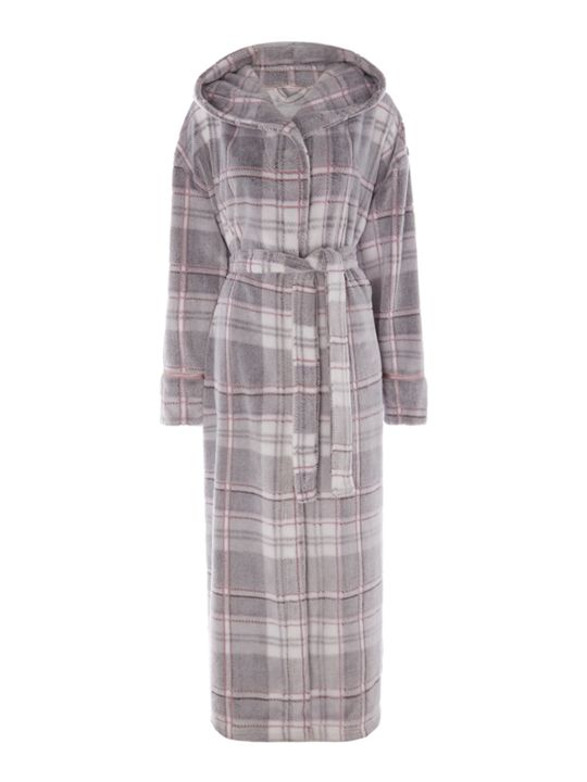 LineaSupersoft Pastel Check Robe
