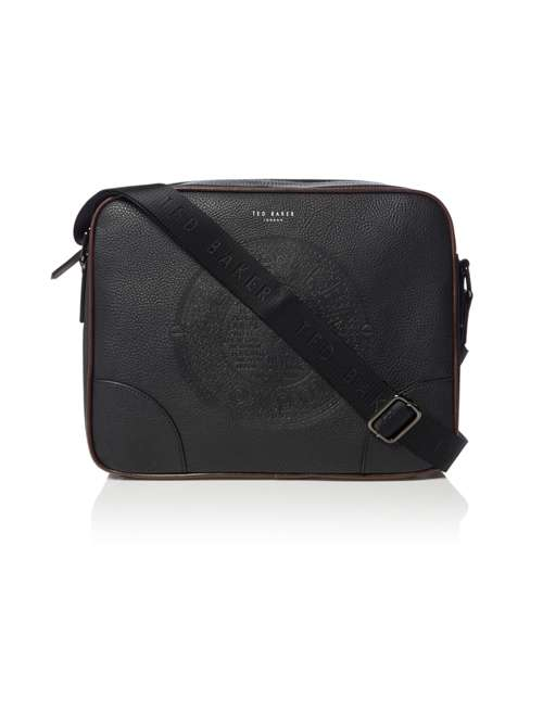 c914c83923e1 Ted Baker Donboss Embossed Messenger Bag - House of Fraser