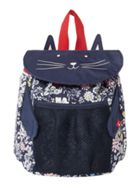 Girls Ditsy Cat Rucksack