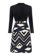 Paese Dress With Knitted Top And Abstract Print