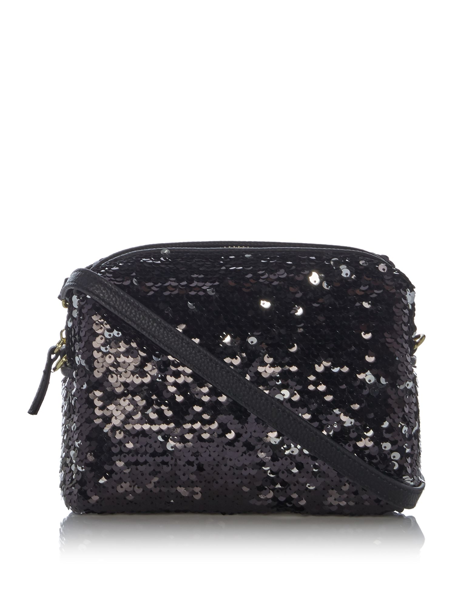 Therapy sequin cross-body bag