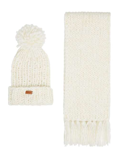 Barbour Chunky Knit Hat And Scarf Set - House of Fraser 5da61e1a30a