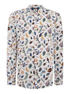 Tailored Fit Earth Floral Print Shirt