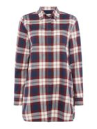 Beachley Tunic In Large Check Pattern