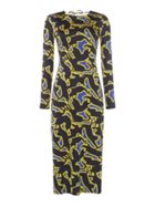 ISSA Pheonix Printed Midi Dress