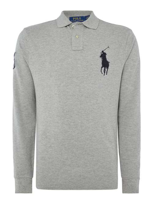 Polo Ralph Lauren Big Polo Player Long Leave Mesh Polo - House of ... 3d2aaec6f9c