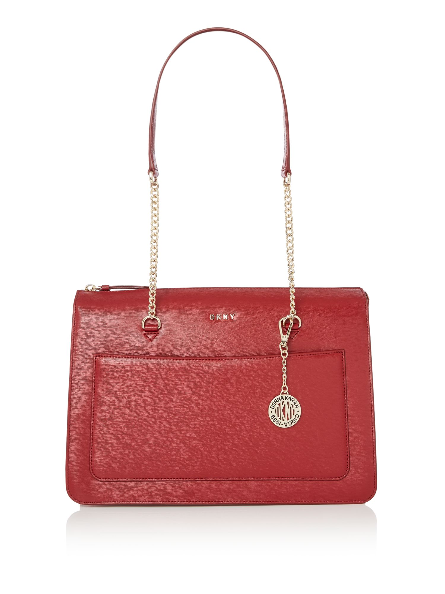 dkny sutton chain top zip tote