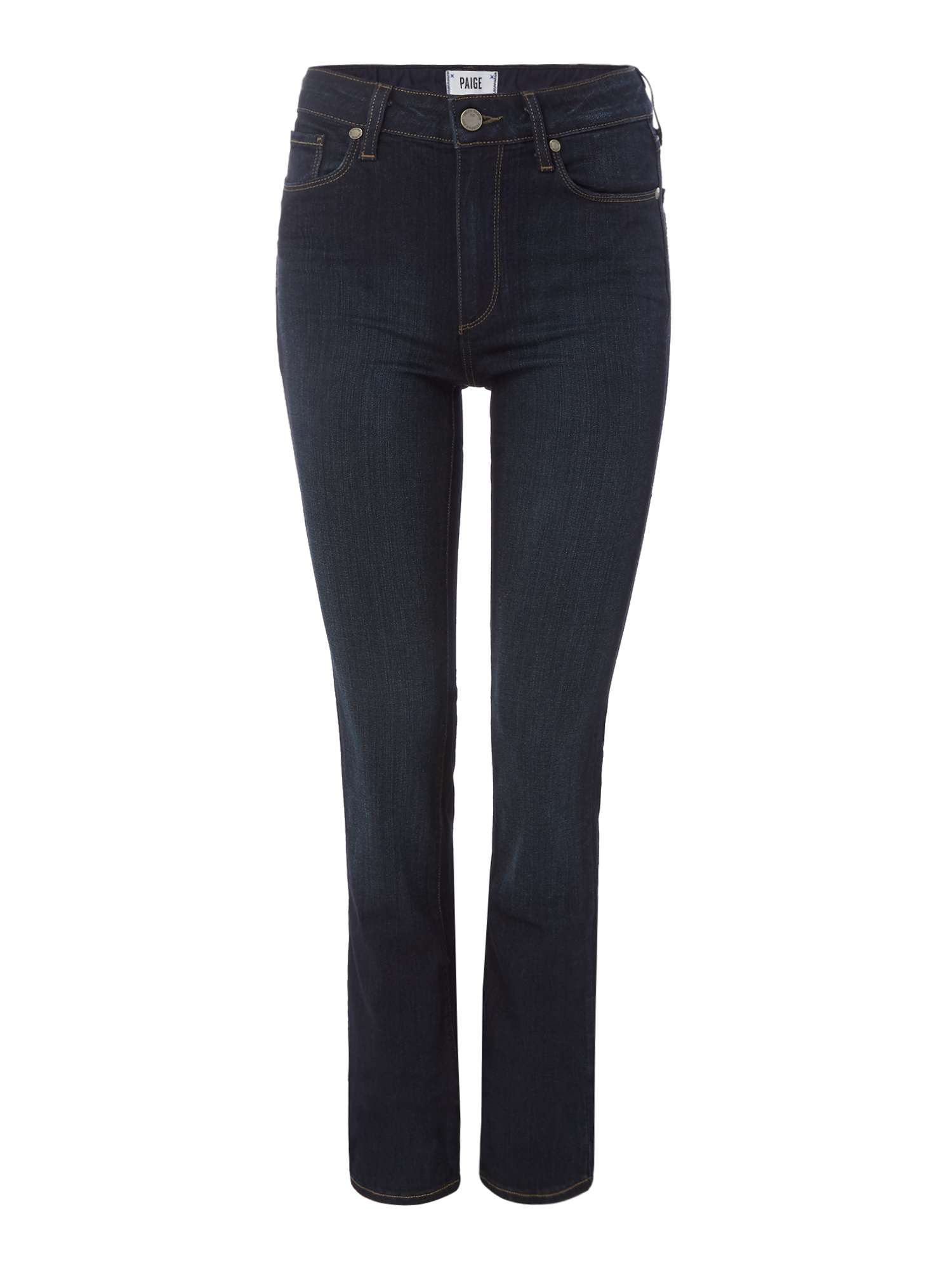 Paige Hoxton High Rise Straight Jeans in Mona ...