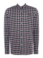 Men's Fred Perry Reverse tartan long sleeve shirt