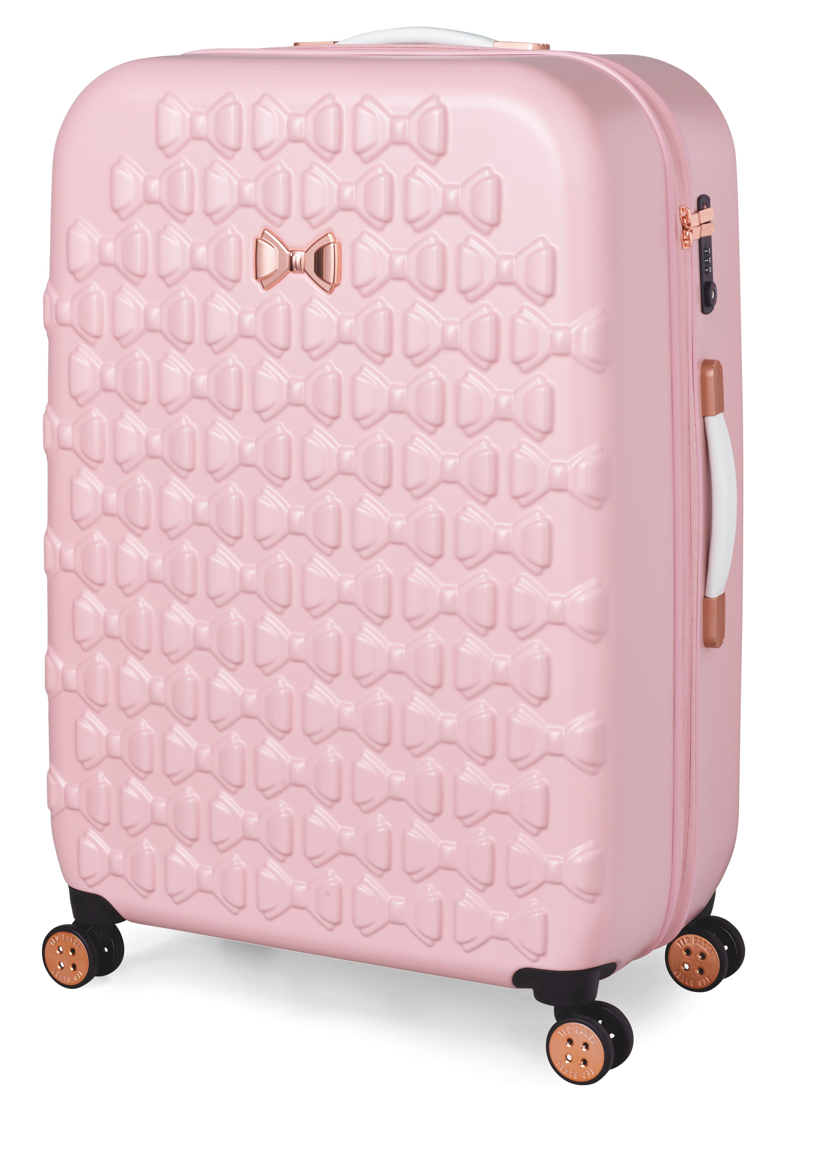 295a0bd9e Ted Baker Beau Pink 4 Wheel Large Suitcase