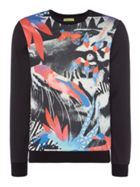 Men's Versace Jeans Abstract digital tiger print crew