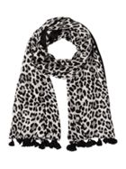 Kate Spade New York Classic Leopard Woven Scarf