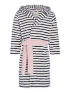 Joules Girls Paw Stripe Dressing Gown