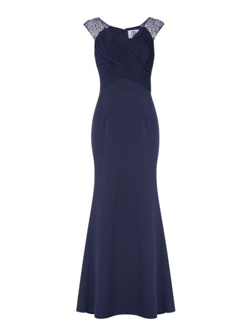 JS Collections V Neck Gown - House of Fraser