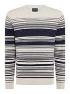 Men's Howick Holbeach Textured Stripe Jumper