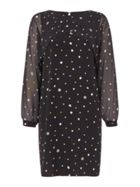 Biba Polkadot printed split sleeve dress